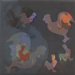 Akua monotype by Talleen Hacikyan