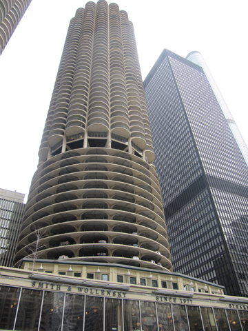 Marina City complex, designed by Bertrand Goldberg, 1959.