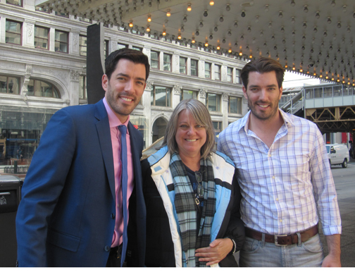 Robin meets the Property Brothers.