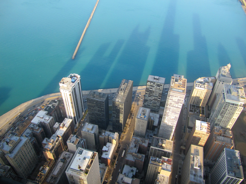 View from 360 Chicago.