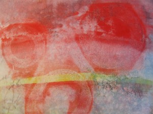 Talleen Hacikyan, monotype printed with the Pin Press, 9 x 12 inches, 2014.
